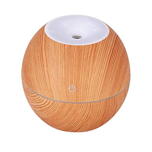GNNHY Mini Luftbefeuchter Ultraschall Bunte Flat Top USB Wiederaufladbare Stumm Home Office Luftbefeuchter Aroma Diffuser,lightwoodgrain