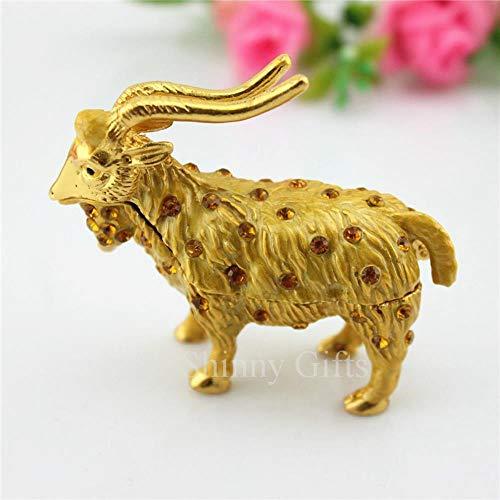 Joyas de aleación de Cabra Regalo Artesanal pequeño Regalo Zodiaco ovejas Adornos Joyas, Oro