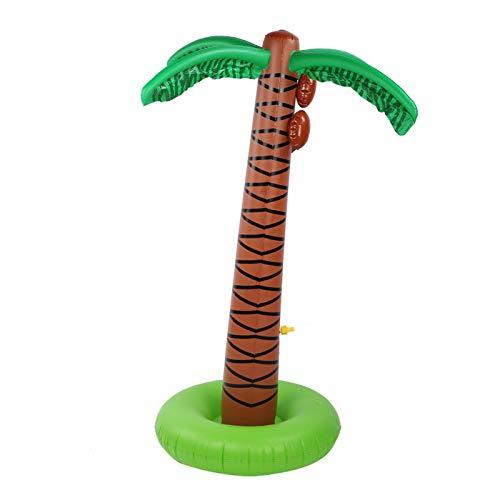 Palmera inflable para niños, agua en aerosol, juguete para exteriores, almohadilla inflable portátil y ecológica, verano para césped, jardín, decoración de fiestas en la piscina(Árbol de coco)