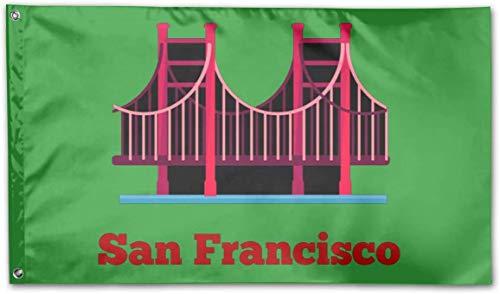 YRTGF Bandera San Francisco de 3x5 pies - Color Vivo y Resistente a la decoloración UV
