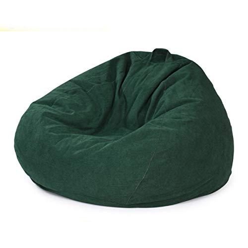 ZJDU Silla Rellena De Almacenamiento Bird's Nest Bean Bag,con Funda Extraíble,Silla De Sofá con Bolsa De Frijoles Rellena Cómoda Ultra Suave,para Niños Y Adultos,Verde,90×110cm