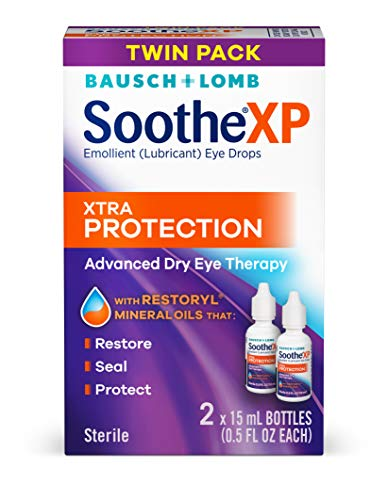 Bausch + Lomb Soothe XP Dry Eye Drops, Xtra Protection Lubricant Eye Drops with Restoryl Mineral Oils, , 0.5 Ounce Bottle Twinpack, 0.50 Fl Oz (2 Count)