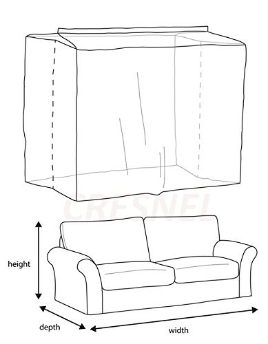 CRESNEL Furniture Cover Plastic Bag for Moving Protection and Long Term Storage (Sofa)