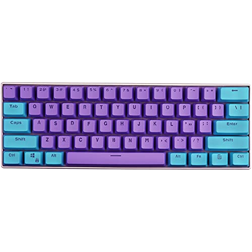 KEEZSHOP Keycaps, 61 Keycaps Backlight Zweifarbig Mechanische Tastatur PBT Tastenkappe für GH60 / RK61 / ALT61 / Annie/Keyboard Poker Keys