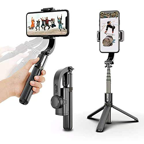 Trípode HONG selfie stick con bluetooth, adecuado para iPhone Android Samsung 3.5-6...
