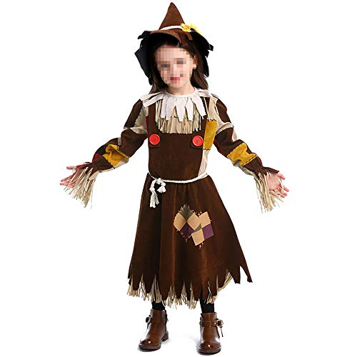 kMOoz Cosplay kostuum, halloween Outfit,kids Halloween Heks Fancy Adress Kostuum Cosplay Halloween Party, vogelverschrikker Drama Stage Kostuums Halloween Kostuum Heks Kostuum Heks Kostuum