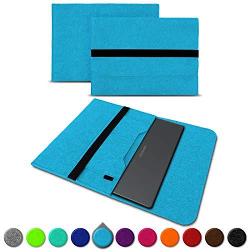 UC-Express Sleeve Hülle für Medion Akoya E3222 E3223 13,3 Zoll Tasche Filz Notebook Cover Laptop Etui Schutz Case sicherer Verschluss, Farbe:Türkis