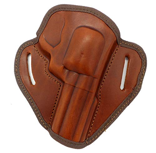 HOLSTERMART USA CEBECI ARMS Brown Leather Open Top Right Hand Belt Holster for Ruger SP101, Security SIX Revolver, 4' Barrel