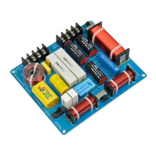 MOVKZACV Separador de frecuencia de Audio, Hi-fi Divisor de frecuencia de 3 vías con 350W para Altavoz Agudos/Graves, Crossover Filtros Woofer y Tweeter