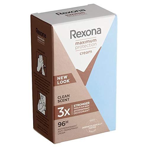 3er Pack - Rexona Women Deostick Cream - Maximum Protection Clean Scent - 45ml