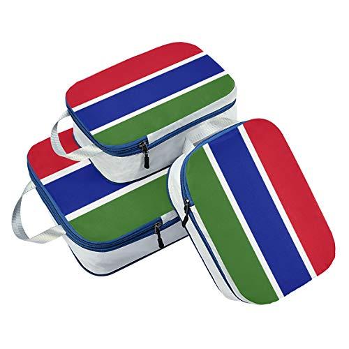 Juego de 3 Cubos de Embalaje de la Bandera de Gambia