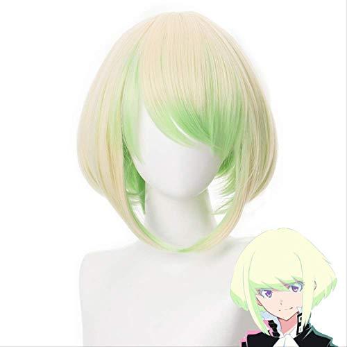 Anime PROMARE Mad Burnish Lio Fotia 35cm Peluca de Cosplay de pelo sinttico resistente al calor recto corto + gorro de peluca