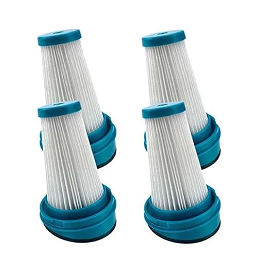 FBUWX Confezione da 4 filtri di Ricambio per bidone della Polvere per aspirapolvere SVF11 2 in 1 a Batteria al Litio HSV320J HSV420J HSV520J Efficiente (Color : Blue White)