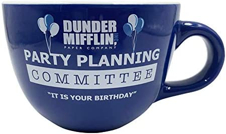 Silver Buffalo The Office Party Planning Committee Ceramic Soup Mug 24 Ounce Blue product image