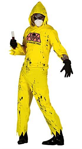 Guirca- Costume de Zombie Radioactif, Couleur Jaune, Taille Unique, 80905