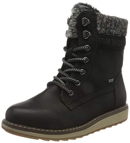 Tom Tailor Womens 9092701 Mid Calf Boot Bootie Boot, Black, 6.5 UK
