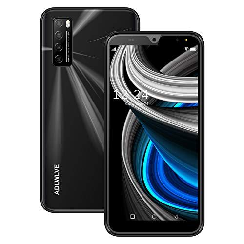 Moviles Libres Baratos 4G,6.3Pulgadas 3GB RAM 32GB ROM   64GB Smartphone Libre Android 9.0 Face ID teléfonos móviles gratuitos, 8MP 4600mAh,Dual SIM Quad Core Moviles Buenos (Negro)