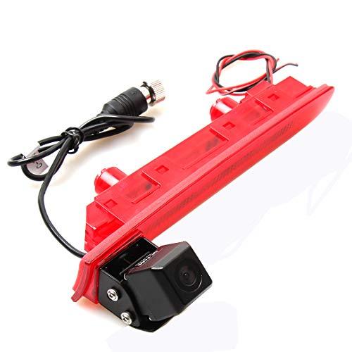 Red Wolf, telecamera per auto per retromarcia, per VW Volkswagen Transporter T5 T6, telecamera a colori IP68 in 3, luce di stop, 170 gradi, NTSC 12 V, CMOS, ausilio al parcheggio, terza luce di stop
