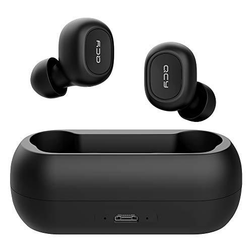 QCY T1 Bluetooth イヤホン ワイヤレスイヤホン Bluetooth 5.0 ブルートゥース イヤホン 最新のTWS技術 AAC対応 Hi-Fi高音質 aptX Adaptiveコーデック対応 36時間再生 低遅延 IPX4防水 CVCイズキャンセリンク機能 自動ペアリング 片耳/両耳 マイク内蔵 IOS/Android/Windows対応 (ブラック)