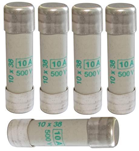 AERZETIX - 5x Fusible Cerámico - aM - 3.8cm - 10A 10000mA 500VAC - 10x38mm - C42346
