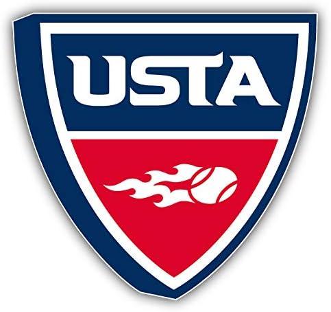 valstick USTA Tennis Association Sticker Max 73% OFF Car Decal Recommended Bumper