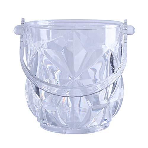 YSPS Cubo de Hielo Transparente de Hielo-acrílico en Forma de Bucket de Hielo KTV, Muy Adecuado para Vino, champán o Botellas de Cerveza 14x13cm
