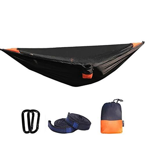 Hamaca ultraligera para 2 personas, portátil de secado rápido con mosquitera desmontable, carga de 200 kg para viajes, senderismo, picnic (280 x 140 cm)