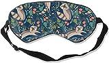 Travel & Naps & Yoga Meditation & Shift Work Blockout Blindfold with Adjustable Strap Good Night Eyeshade for Women MenCute Raccoon Sleep Eye Mask for Sleeping
