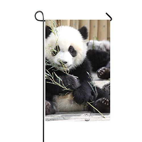 hongwei Personnalité d'été Panda Géant Jardin Drapeau Polyester Drapeau Extérieur Fête À La Maison - Impression Duplex