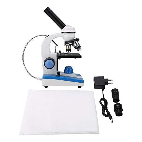 Monokulares Mikroskop, Zusammengesetztes Mikroskop Biologischen Wissenschaft WF10X 40-640X Labormonokulares Mikroskop für Experiment(EU Stecker)