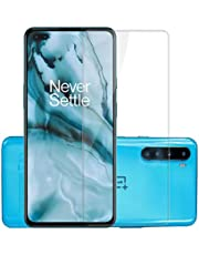 Affix Tempered Glass for OnePlus Nord/OnePlus Nord 5G with Easy Self Installation Kit (Transparent) Full Screen Coverage (except edges) (Without Camera Cut) - Pack of 1