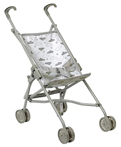 Adora Baby Doll Stroller - Twinkle Stars Umbrella Stroller, Fits Dolls Up to 18 inches, Gender Neutral Design, Multicolor