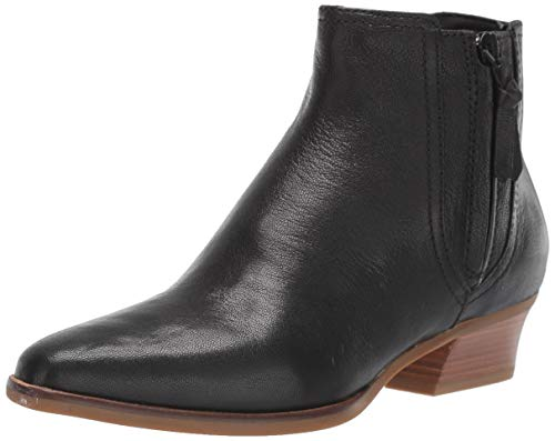 Cole Haan Women's HADLYN Bootie Ankle Boot, Black Leather, 8.5 B US
