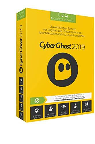Cyberghost 2019 - 3 PCs / 1 Jahr 2019 3 PCs / 1 Jahr 12 Monate PC, Laptop, Tablet, Handy Disc Disc
