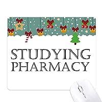 短いフレーズ薬学の勉強 ゲーム用スライドゴムのマウスパッドクリスマス