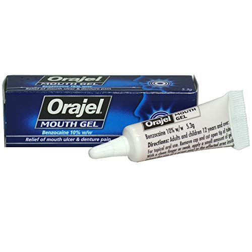 2 x Orajel Mouth Gel - Relief of Mouth Ulcer & Denture Pain
