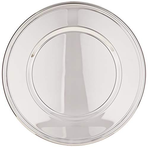 silberkanne Platzteller 33 cm Fadenmuster Silber Plated versilbert in Premium Verarbeitung