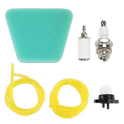 Air Filter Fuel Filter Fuel Line Primer Bulb Spark PlugTune Up Maintenance Kit for Poulan Woodshark WildThing Craftsman