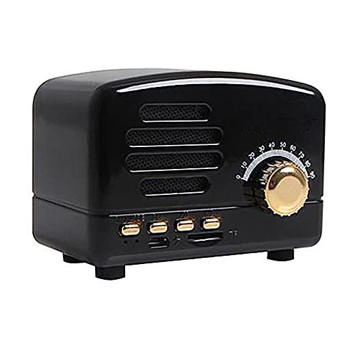 GGZZLL Altavoz Retro Bluetooth, Altavoz Portátil Bluetooth, Diseño Retro, Transmisión Rápida, Bajo Consumo De Energía, Duración De Batería Larga, Adecuado para El Hogar/Dormitorio (Negro)