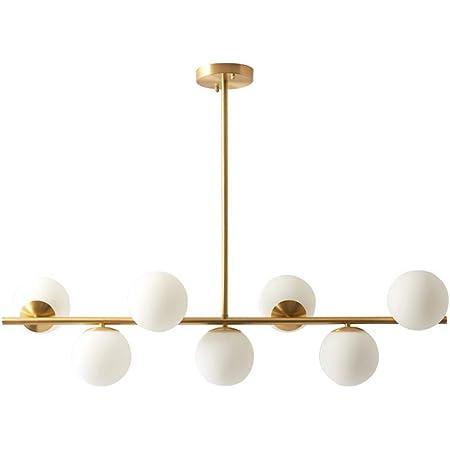 Modo Lighting 3-Light Chandelier Light Modern Linear Ceiling Pendant Light Gold Glass Shade Ceiling Hanging Fixture for Kitchen Island