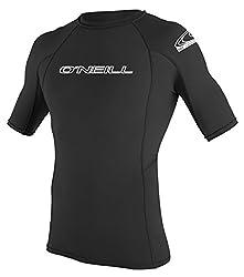 ONEILL WETSUITS Herren Uv Schutz Basic Skins S/S Crew Rash Vest, Black, M