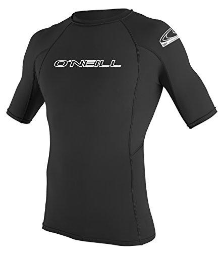 O'Neill Wetsuits Herren Uv Schutz Basic Skins S/S Crew Rash Vest, Black, L