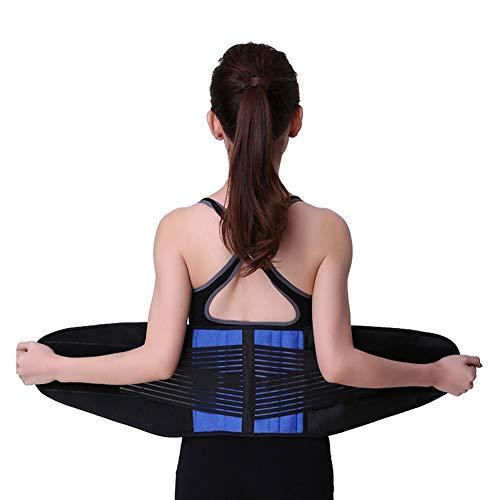 SLCE Cinturón Lumbar Soporte Lumbar para La Espalda Ayuda De La Cintura para Aliviar El Dolor De Espalda Y Prevenir Daños, Tensa El Núcleo Abdominal Y Protege La Zona Lumbar,XXL