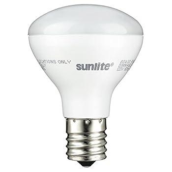 Sunlite 80430 LED R14 Mini Reflector Flood Light Bulb 280 Lumens 4 Watt  25W Incandescent Equivalent  Intermediate Base  E17  Dimmable ETL Listed 2700K Warm White 1 Pack