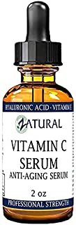 Organic Vitamin C Serum for Face-Professional Strength-Organic Vitamin C Serum-Hyaluronic Acid-Vitamin E-Naturally Derived 20% Vitamin C (2 Ounce)