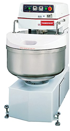 "Thunderbird ASP-40 Spiral Mixer, Removable Bowl, Stainless Steel, 22"" x 34"" x 46"""