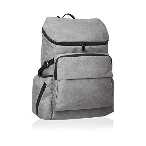 Amazon Basics - Mochila de calle para portátiles de hasta 38 cm, gris