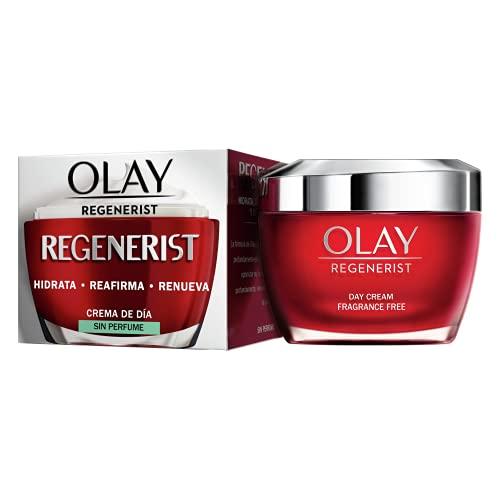 Olay Regenerist Crema Facial De Día, Fórmula Con Vitamina B3 Y Niacinamida, Hidrata 24H, Sin Perfume 50ml
