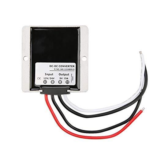 Convertidor de voltaje de configuración, práctico módulo de configuración de 12 V a 5 V / 24 V a 5 V para control automático de telecomunicaciones para equipos médicos para automoción