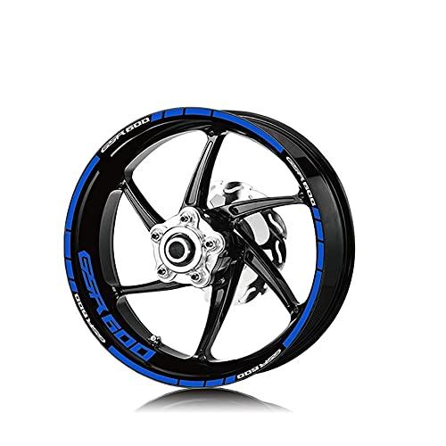 Protector DE Tanque Moto para Su&zuki GSR600 GSR 600 Neumático De La Motocicleta Etiquetas De Rueda Impermeable Etiquetas De Rueda Reflectante Stripe Moto Calcomanías (Color : A)